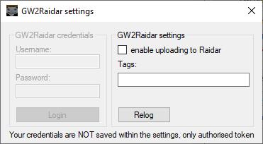 GW2Raidar settings